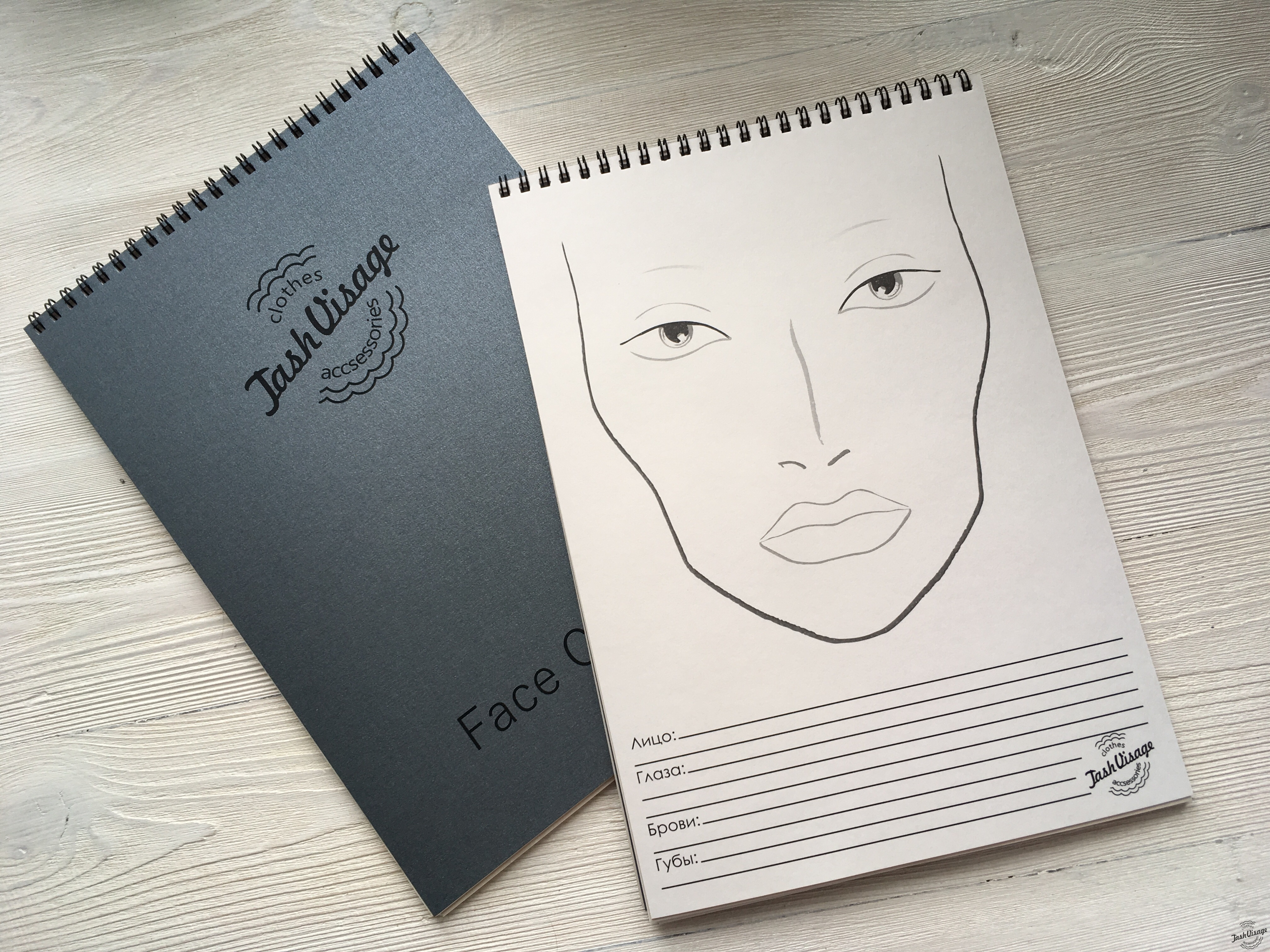 Face Chart Classic Type Альбом с фейсчартами
